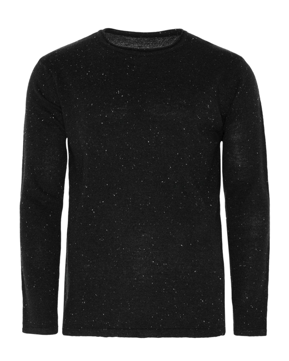 Lightweight Longline Raw Edge Knit Charcoal
