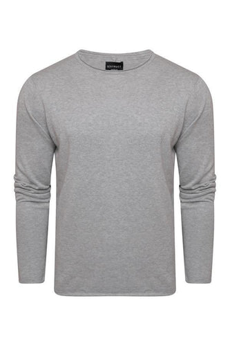 Lightweight Raw Edge Knit Grey
