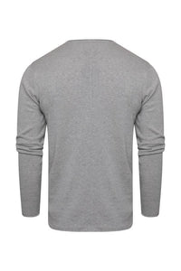 Lightweight Raw Edge Jumper Grey