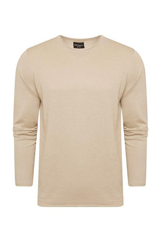 Lightweight Raw Edge Knit Sand