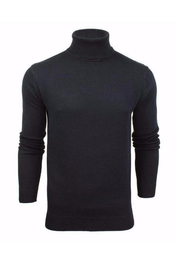 Lightweight Roll Neck Knit Navy