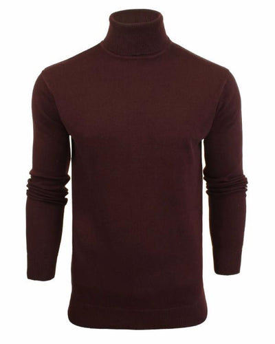 Lightweight Roll Neck Knit Plum