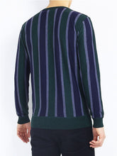 Load image into Gallery viewer, Lightweight Stripe Jumper Navy/ Green