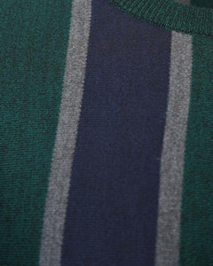 Lightweight Stripe Jumper Navy/ Green
