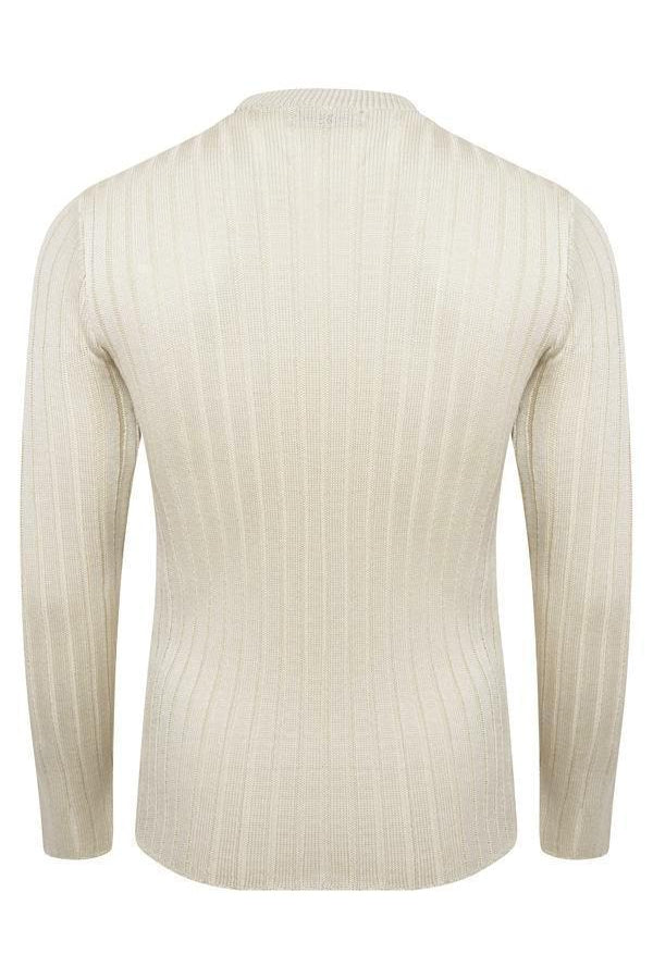 Muscle Fit Jumper Sand