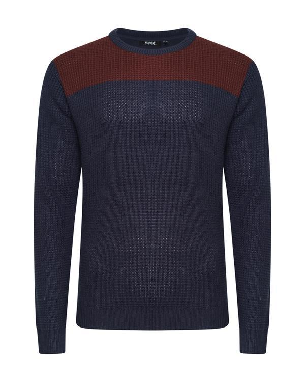 Panel Fisherman Jumper Navy