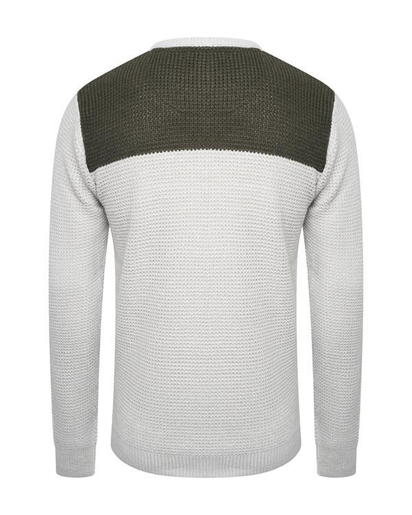 Panel Fisherman Jumper Stone