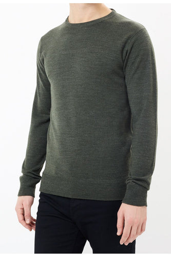 Ribbed Nepp Knit Khaki