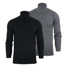 Load image into Gallery viewer, Ribbed Roll Neck Lightweight Knit Grey Marl