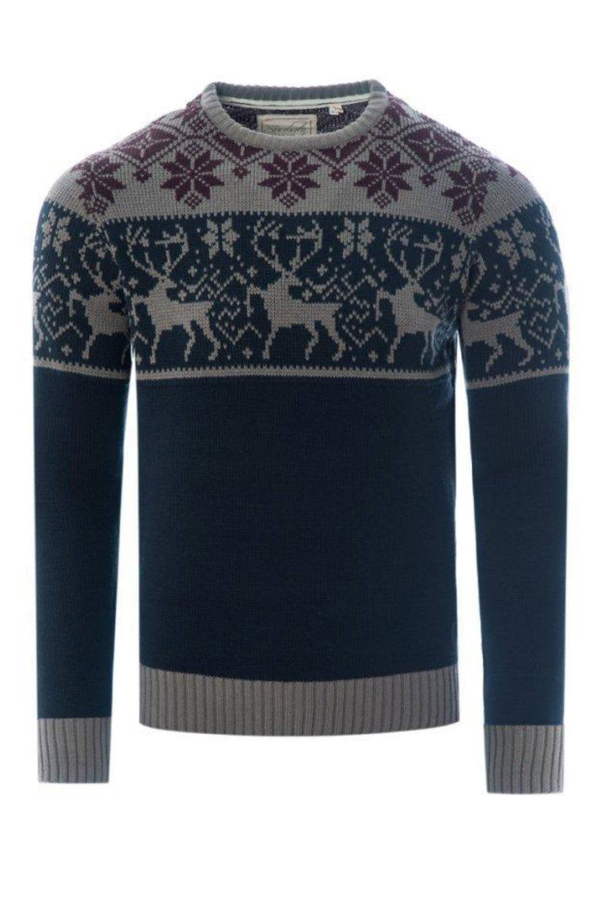 Stag Knit Navy