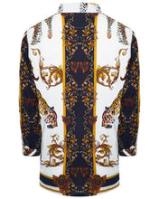 Load image into Gallery viewer, Leopard Baroque Long Sleeve Silky Shirt White
