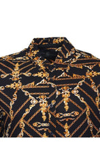 Load image into Gallery viewer, Long Sleeve Baroque Shirt Black