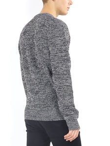 Twist Knit Knit Black Marl