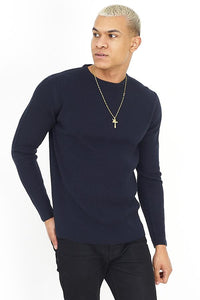 Muscle Fit Knit Navy