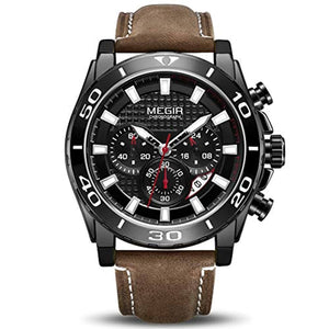 Racing Watch Leather Black