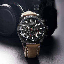 Load image into Gallery viewer, Racing Watch Leather Black