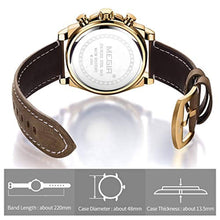 Load image into Gallery viewer, Racing Watch Leather Gold
