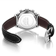 Load image into Gallery viewer, Racing Watch Leather Sliver