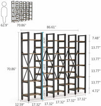 Load image into Gallery viewer, Wide 5 Tier Bookcase (23 shelves)
