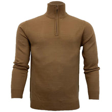 Load image into Gallery viewer, 1/4 Zip Knit Camel