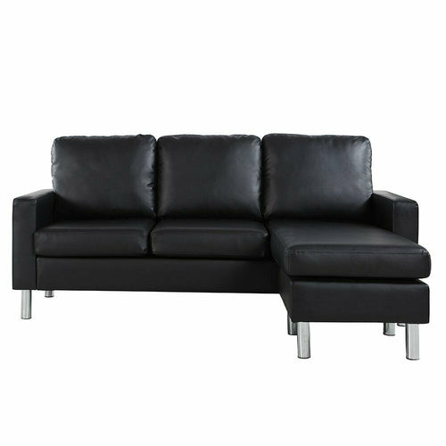 Modern Bonded Leather Sectional Sofa