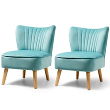 Load image into Gallery viewer, Velvet Armless Accent Chair x2