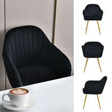 Load image into Gallery viewer, Set of 2 Rocco Velvet Chairs Black