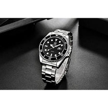 Load image into Gallery viewer, Seamaster Watch Black Steel
