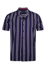Load image into Gallery viewer, Soft Feel Classic Stripe Shirt Navy