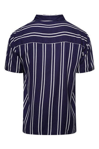 Soft Feel Classic Stripe Shirt Navy