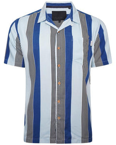 Soft Feel Vertical Stripe Shirt Lt Blue