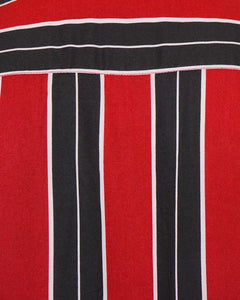 Soft Feel Vertical Stripe Shirt Red