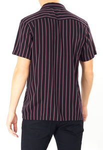 Soft Feel Vertical Stripe Shirt Thin Black
