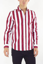 Load image into Gallery viewer, Stripe Shirt Long Sleeve Red