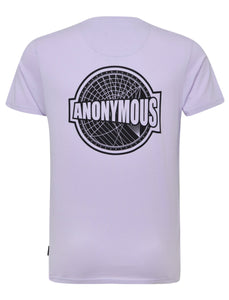 Anonymous Back Print T-Shirt Lilac