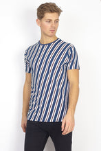 Load image into Gallery viewer, Diagonal T-Shirt Blue