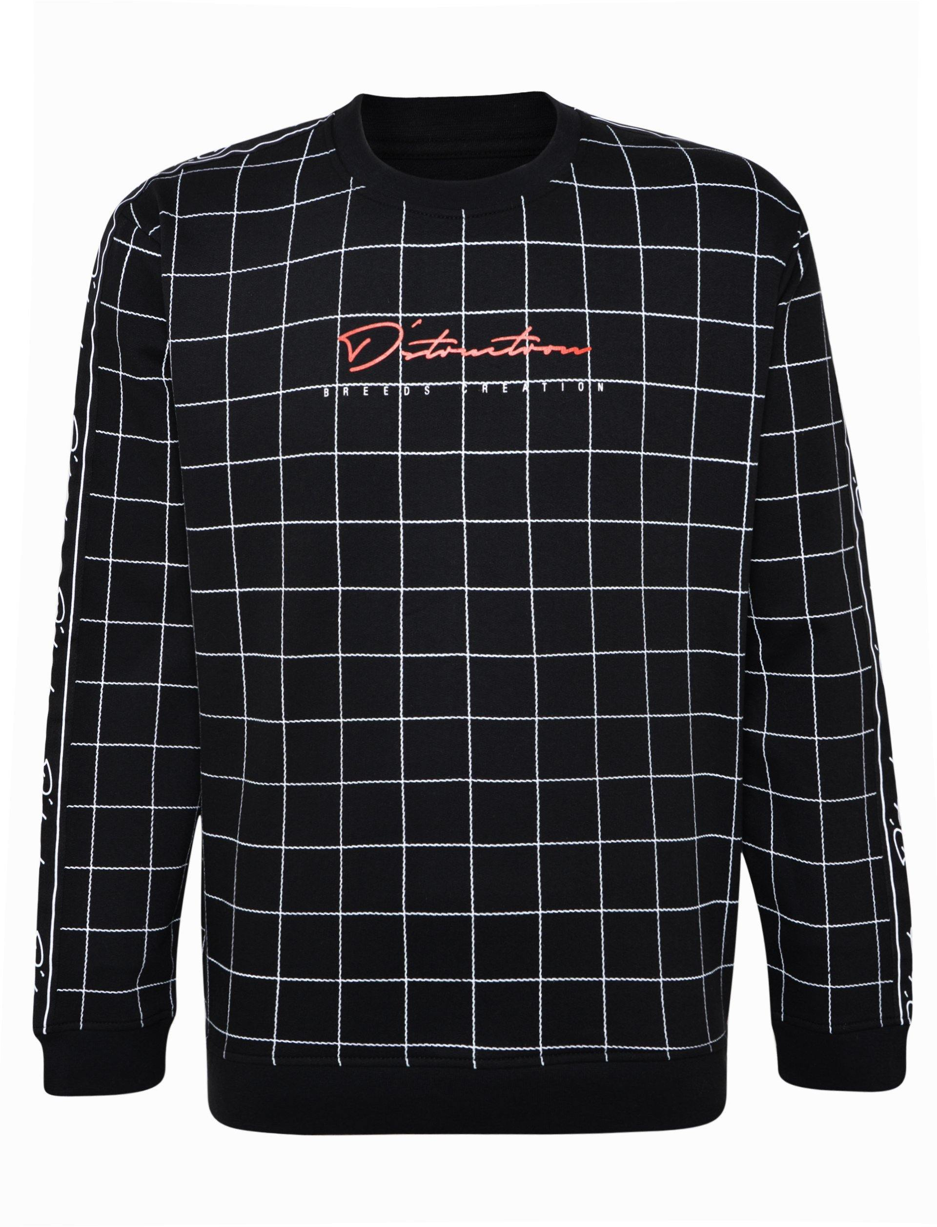Grid Sweater Black