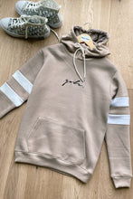 Load image into Gallery viewer, Hoodie & Shorts Set Stripe Stone