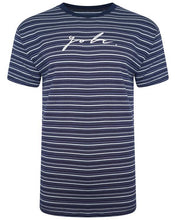 Load image into Gallery viewer, Horizontal Signature T-Shirt Navy