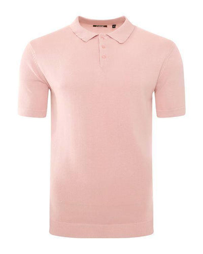 Lightweight Knitted Polo Short Sleeve Dusty Pink