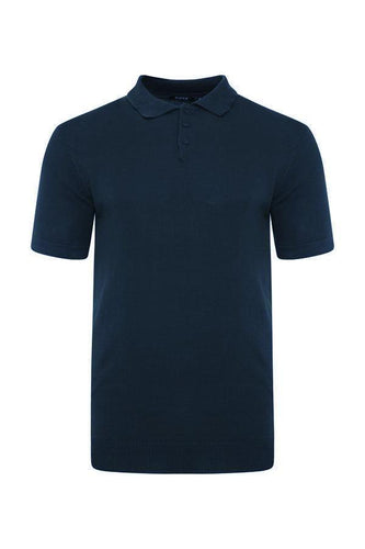 Lightweight Knitted Polo Short Sleeve Navy