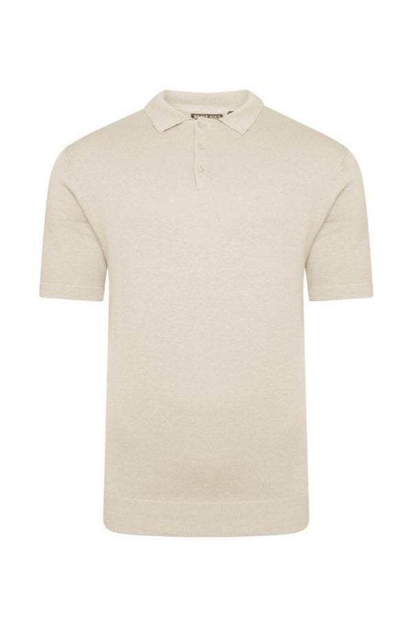 Lightweight Knitted Polo Short Sleeve Sand