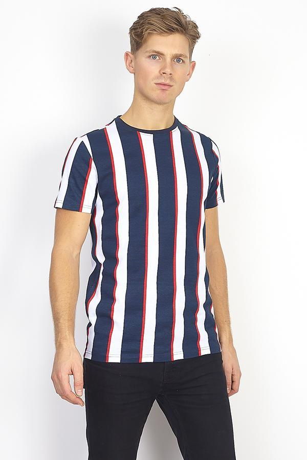Parlor Stripe T-Shirt Navy