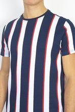 Load image into Gallery viewer, Parlor Stripe T-Shirt Navy
