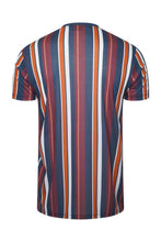Load image into Gallery viewer, Signature Stripe T-Shirt Burg/ Orange