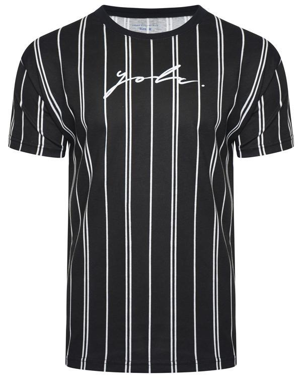 Signature Stripe T-Shirt Double Black
