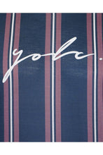 Load image into Gallery viewer, Signature Stripe T-Shirt Plum Navy
