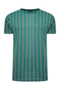 Vertical Stripe T-Shirt Green