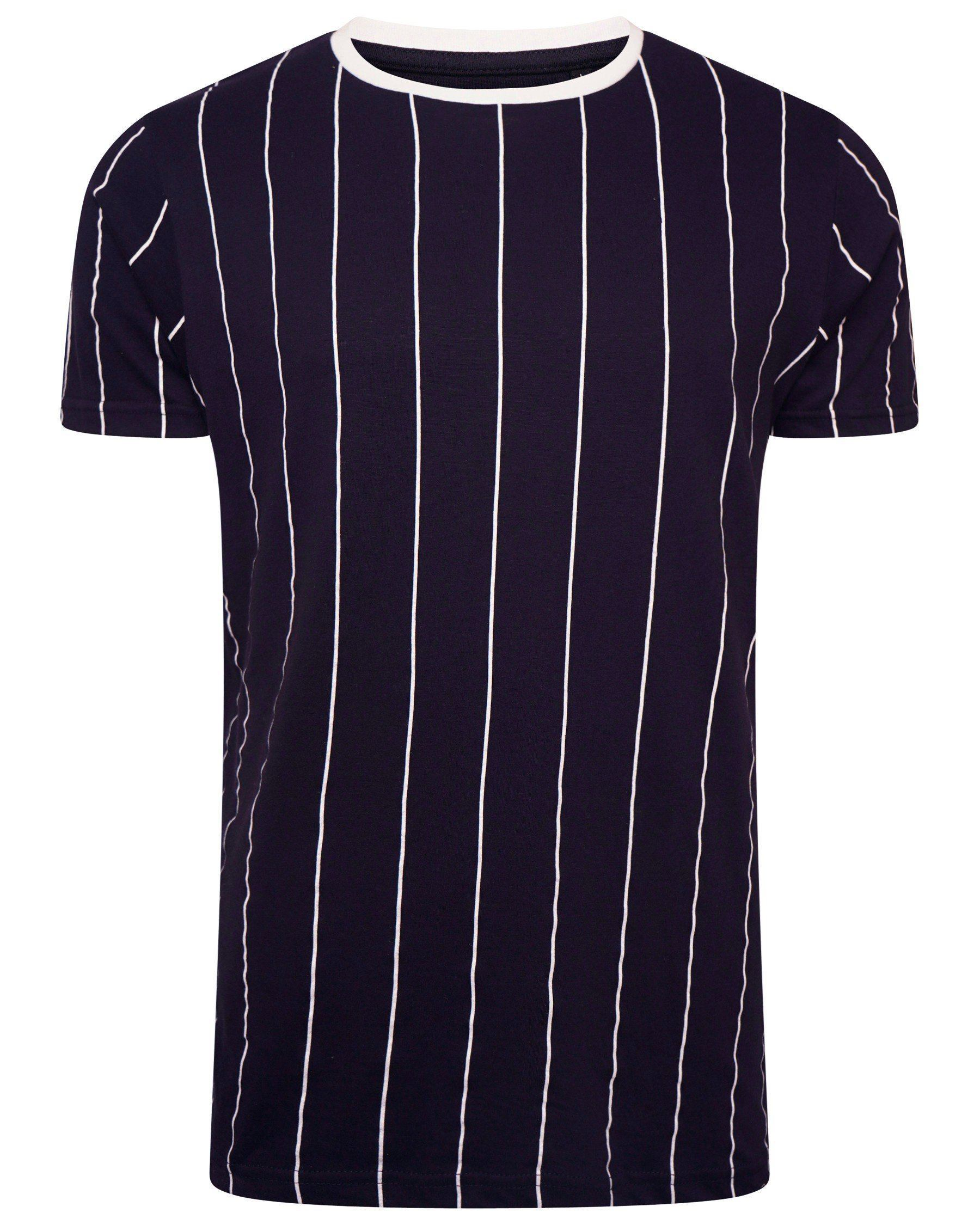 Vertical Stripe T-Shirt Navy