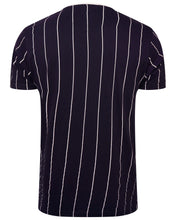 Load image into Gallery viewer, Vertical Stripe T-Shirt Navy